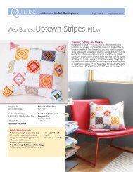 free pattern for a cute coordinating quilted pillow - McCalls Quilting