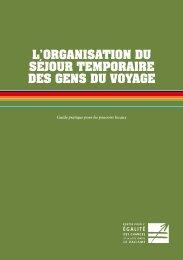 L'ORGANISATION DU SéJOUR TEMPORAIRE DES GENS DU ...