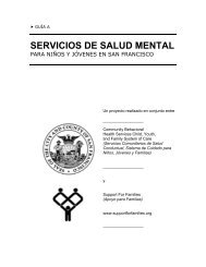 servicios de salud mental - Support for Families of Children with ...