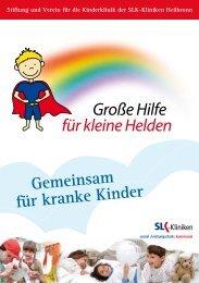 Gemeinsam für kranke Kinder - Große Hilfe für kleine Helden