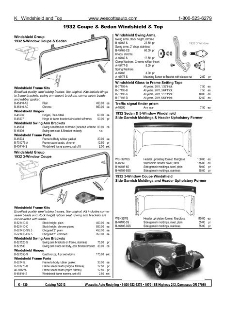 1928 1929 1930 1931 Model A Ford Accessory Windshield Swing Arm Kit Coupe Sedan