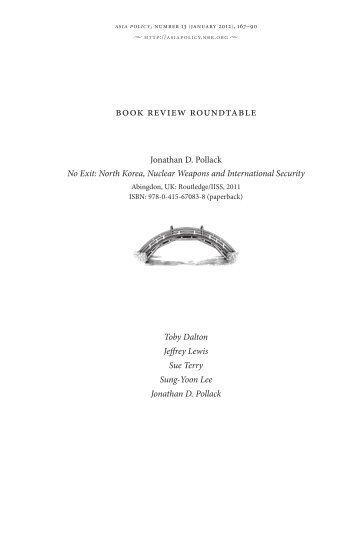 Jonathan Pollack's No Exit: North Korea - The National Bureau of ...