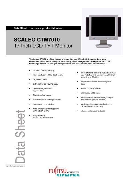 SCALEO CTM7010 17 Inch LCD TFT Monitor