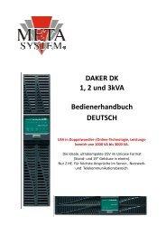 Handbuch DAKER DK 1000-3000 - Meta System Deutschland
