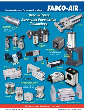 Over 50 Years Advancing Pneumatics Technology - Fabco-Air, Inc.