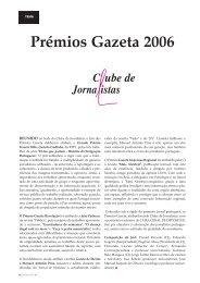 Prémios Gazeta 2006 - Clube de Jornalistas