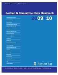 Section & Committee Chair Handbook - Boston Bar Association
