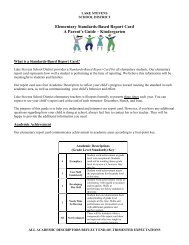 Elementary Standards-Based Report Card A Parent's Guide ...