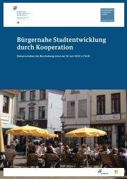 Dokumentation des Bundeskongresses am 20. Juni 2013 in Fürth