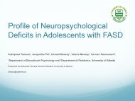 F1ii: Profile of Neuropsychological Deficits in Adolescents with FASD