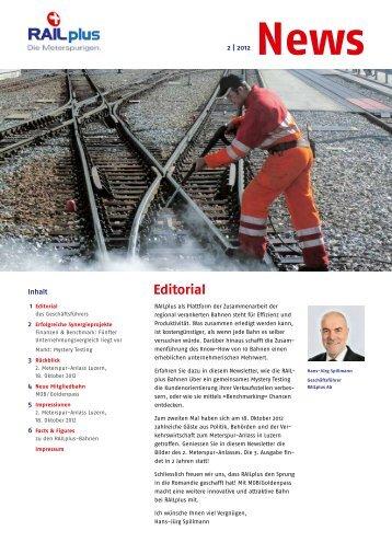 Ausgabe 2 / 2012 - Wer ist RAILplus