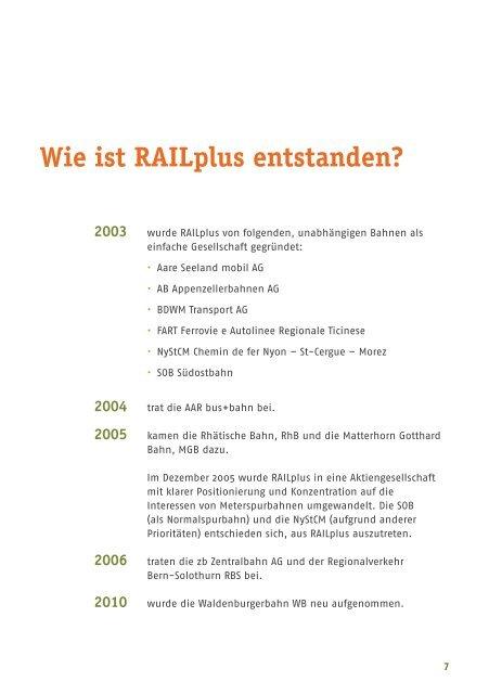 Meterspur - viel Bahn für wenig Aufwand (Deutsch) - Wer ist RAILplus