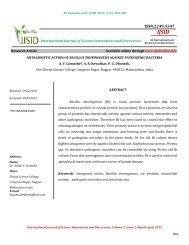 antagonistic action of bacillus thuringinesis against ... - Ijsidonline.info