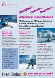 Detailinformationen zum Saisonskipass Berner Oberland 2013/2014