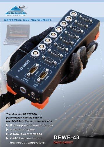 dewe-43 universal usb instrument - DEWETRON Download Center