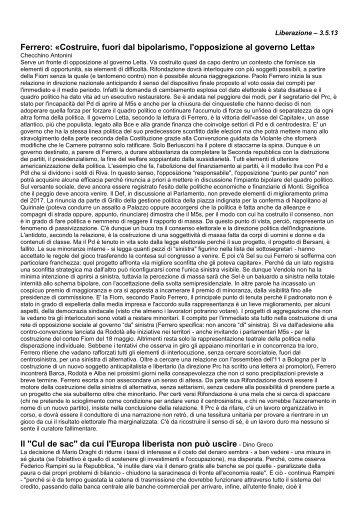 Giornali - Rifondazione Padova