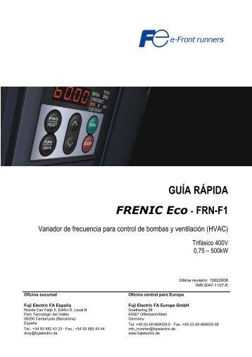 GUÍA RÁPIDA FRENIC Eco . FRN-F1 - Disinel