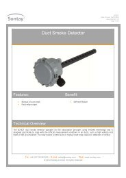Duct Smoke Detector - Sontay