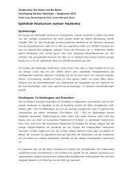 Epitheliale Hauttumore (weisser Hautkrebs) - Vereinigung Zuercher ...