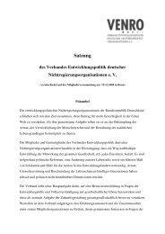 VENRO-Satzung neu ab 2009