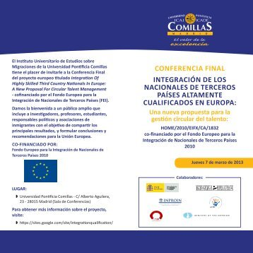 programa - Universidad Pontificia Comillas