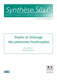 Emploi et chômage des personnes handicapées - Ministère du ...