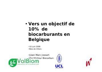 • Vers un objectif de 10% de biocarburants en Belgique - ValBiom