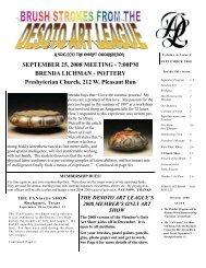 SEPTEMBER 25, 2008 MEETING - 7:00PM ... - desoto art league