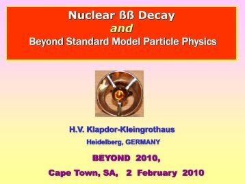 Nuclear ßß Decay and Beyond Standard Model Particle Physics