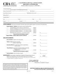 Exhibit - Registration - RRT Contact List - California
