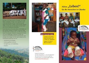 """Aktion """"Leben!"""" für die Menschen in Gikonko - Institut St. Bonifatius"""