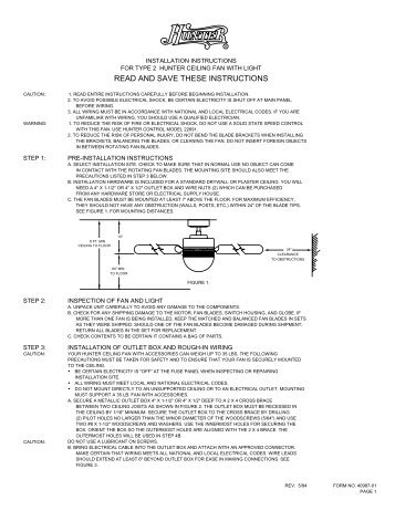 Recessed fan light read and save these instructions home read and save these instructions hunter fan sciox Gallery