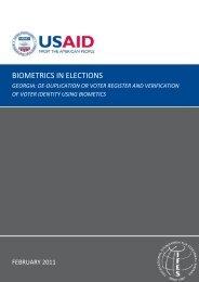 BIOMETRICS IN ELECTIONS - RECEF