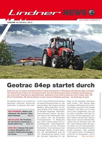 Geotrac 84ep startet durch - Lindner Traktoren
