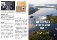 Folder med presentasjon av bind IV - Bindal kommune