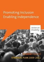 Promoting Inclusion - Enabling Independence (.pdf ... - Enable Ireland