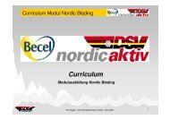 DSV Curriculum Nordic Blading - Deutscher Skiverband