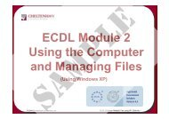 ECDL Module 2 Using the Computer and Managing Files