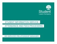 student information service - attendance and fees ... - HEI Services