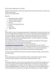 Notat fra møde i AMAgruppe den 18. maj 2011 Deltagere: Ann-Eva ...