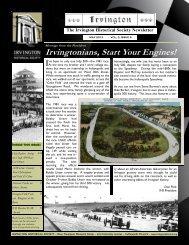 IHS newsletter 2013... - Irvington Historical Society
