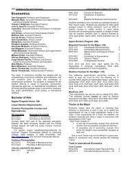 Economics - Course Catalogs