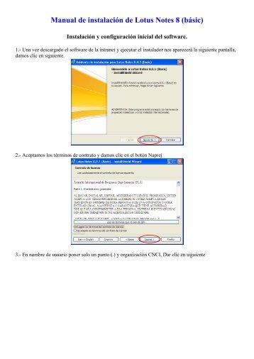 Instalacion de Lotus Notes 8 versión 2010