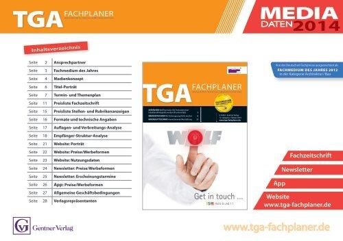 TGA Mediadaten 2014 - mdmedien-gmbh.de