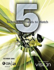 5 tEChnology trEnds to WATCH - Consumer Electronics Association