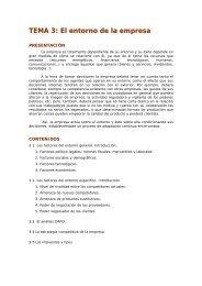 TEMA 3: El entorno de la empresa - Ecobachillerato
