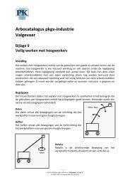 Arbocatalogus Valgevaar, bijlage 09 - Verbond P&K