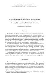 Asynchronous Variational Integrators - Solid Mechanics Home Page