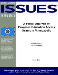 A Fiscal Analysis of Proposed Education Access Grants in Minneapolis