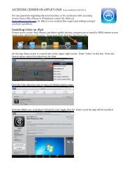 ACCESSING CERNER ON APPLE'S iPAD (Last ... - COMPASS Help